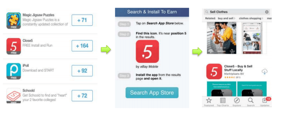 Example of a so-called keyword burst campaign-min
