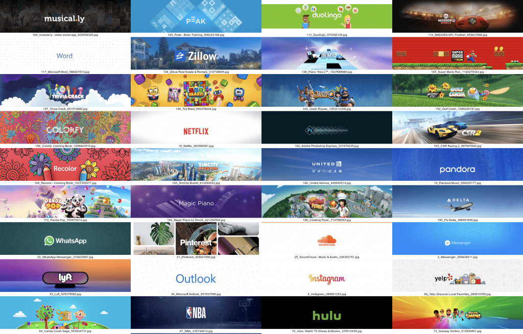Product Page Artwork for the top 200 apps in the US -min