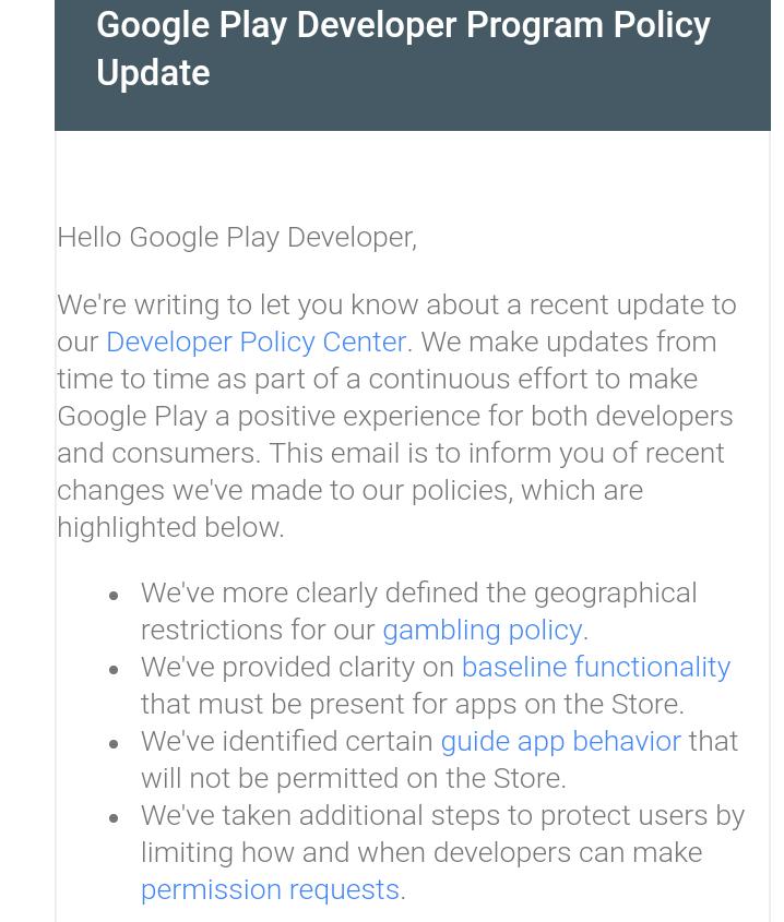 google developer policy update-min