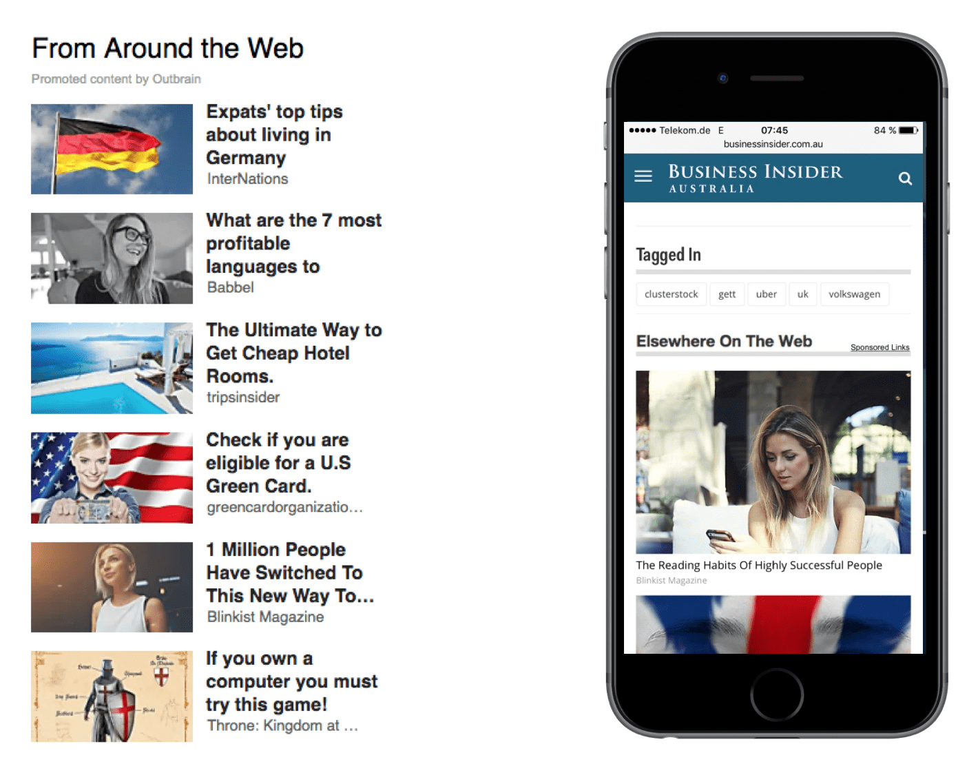 "Native advertisers Outbrain and Taboola created the ""From Around The Web"" widgets"