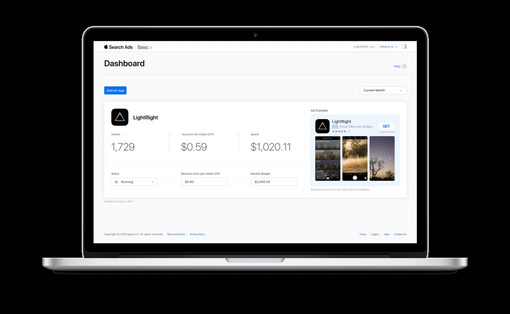 Search Ads Basic dashboard via Tech Crunch -min