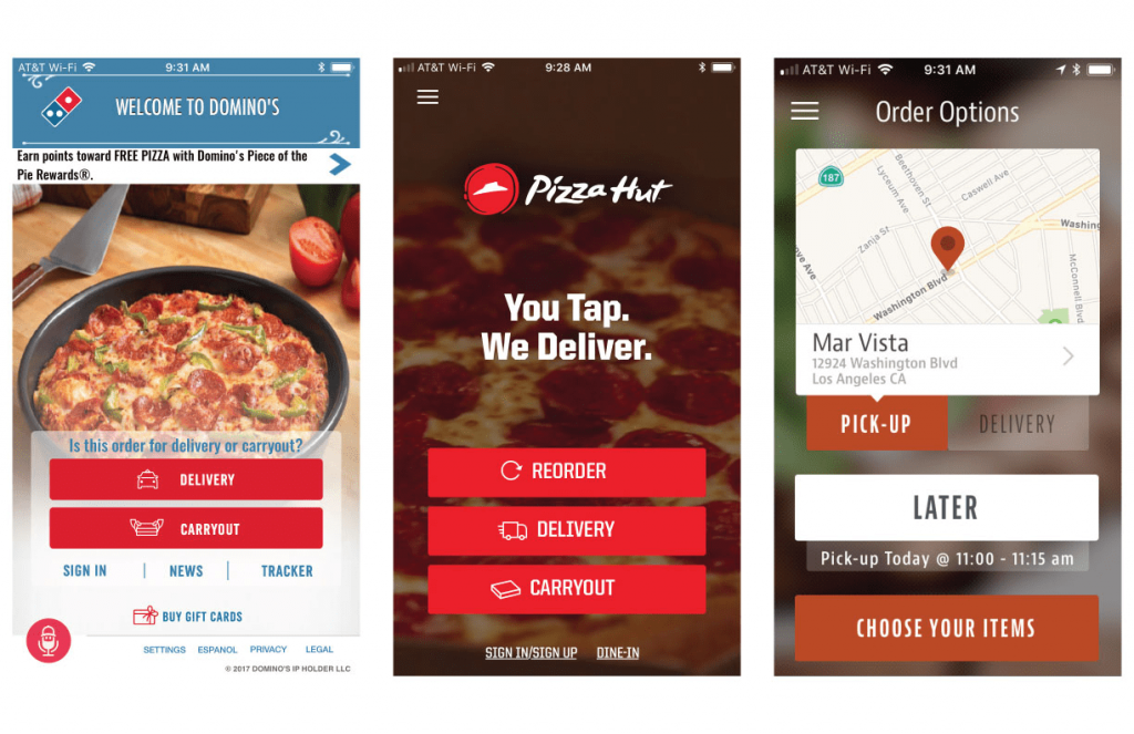 dominos and pizza hut xOne of these apps is a template app -min