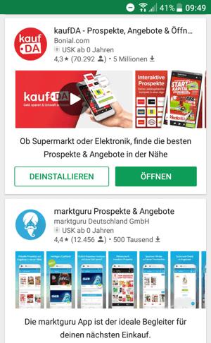 Google Play search screenshot by Aude Boscher