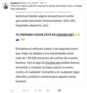 Tweet by Guillardo