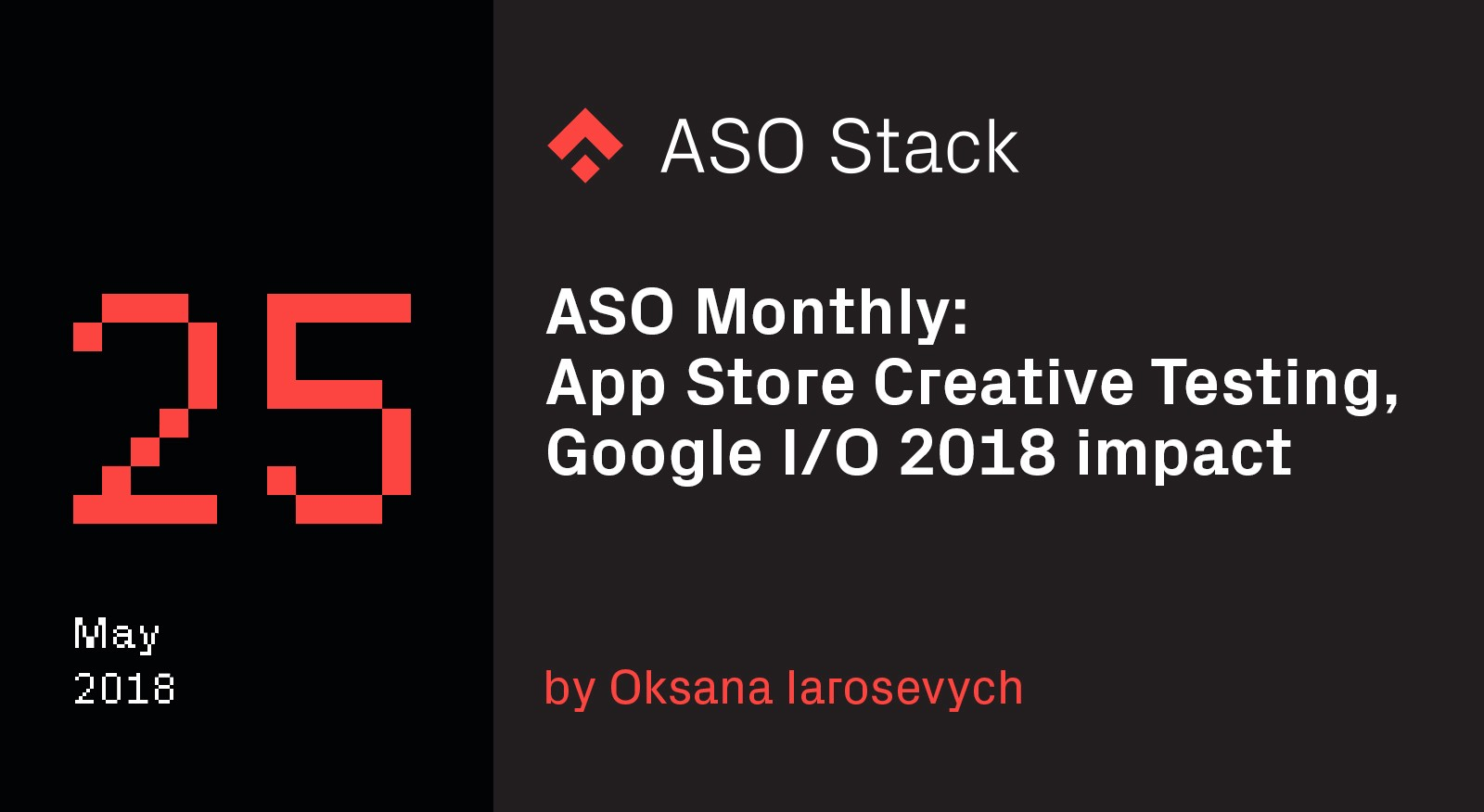 ASO Monthly #25 May 2018- App Store Creative Testing, Google I:O 2018 impact