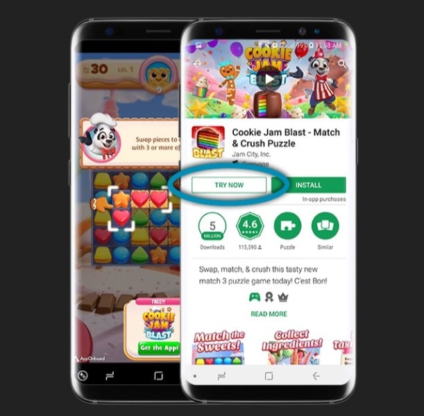 cookie jam blast match and crush puzzle try now feature