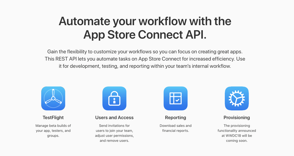 App Store Connect API is released