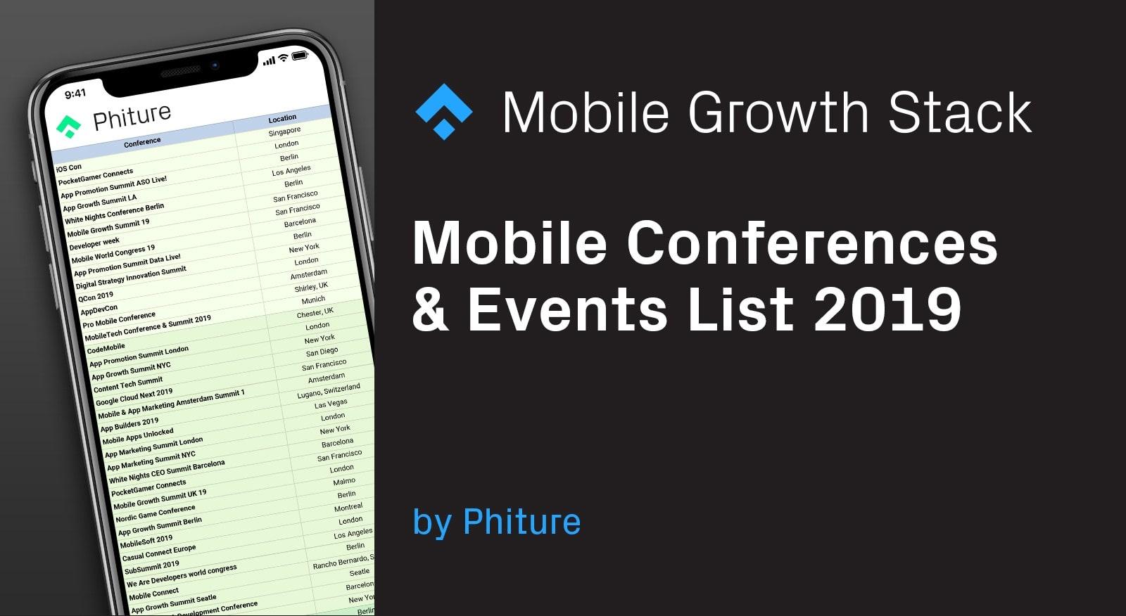 Mobile Conferences & Events List 2019