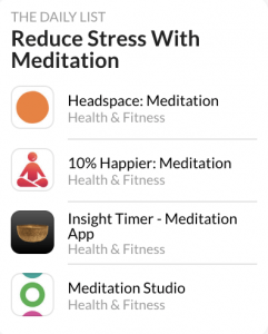 the daily list reduce stress with meditation