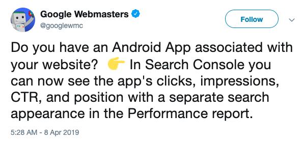 google webmasters tweet