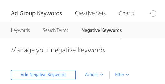 ad group keywords