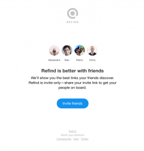 refind referral email for segment of engaged users