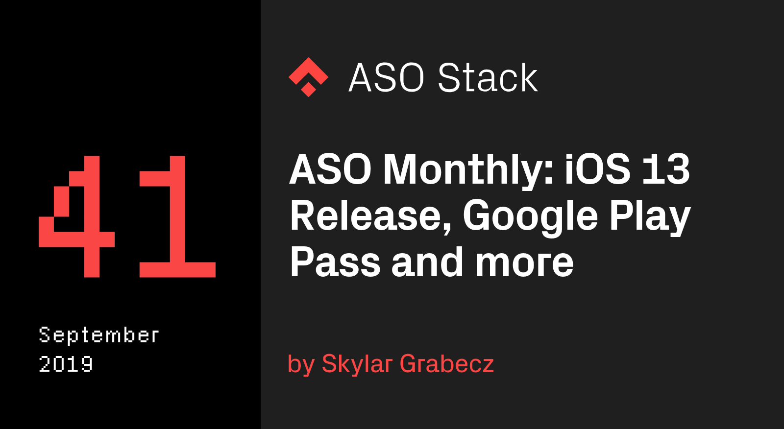 ASO Monthly September 2019- iOS 13 Release, New Play Store In-App Review Prompt Preview, and Google Play Pass