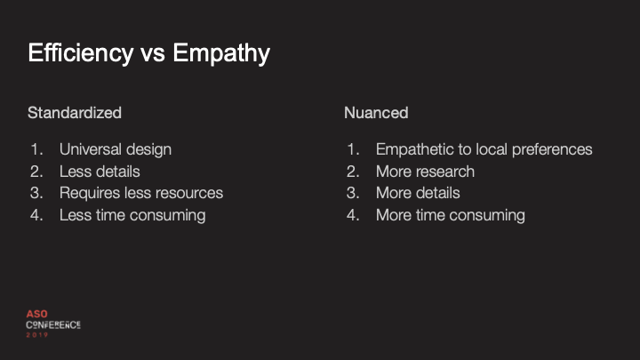 efficiency vs empathy slide
