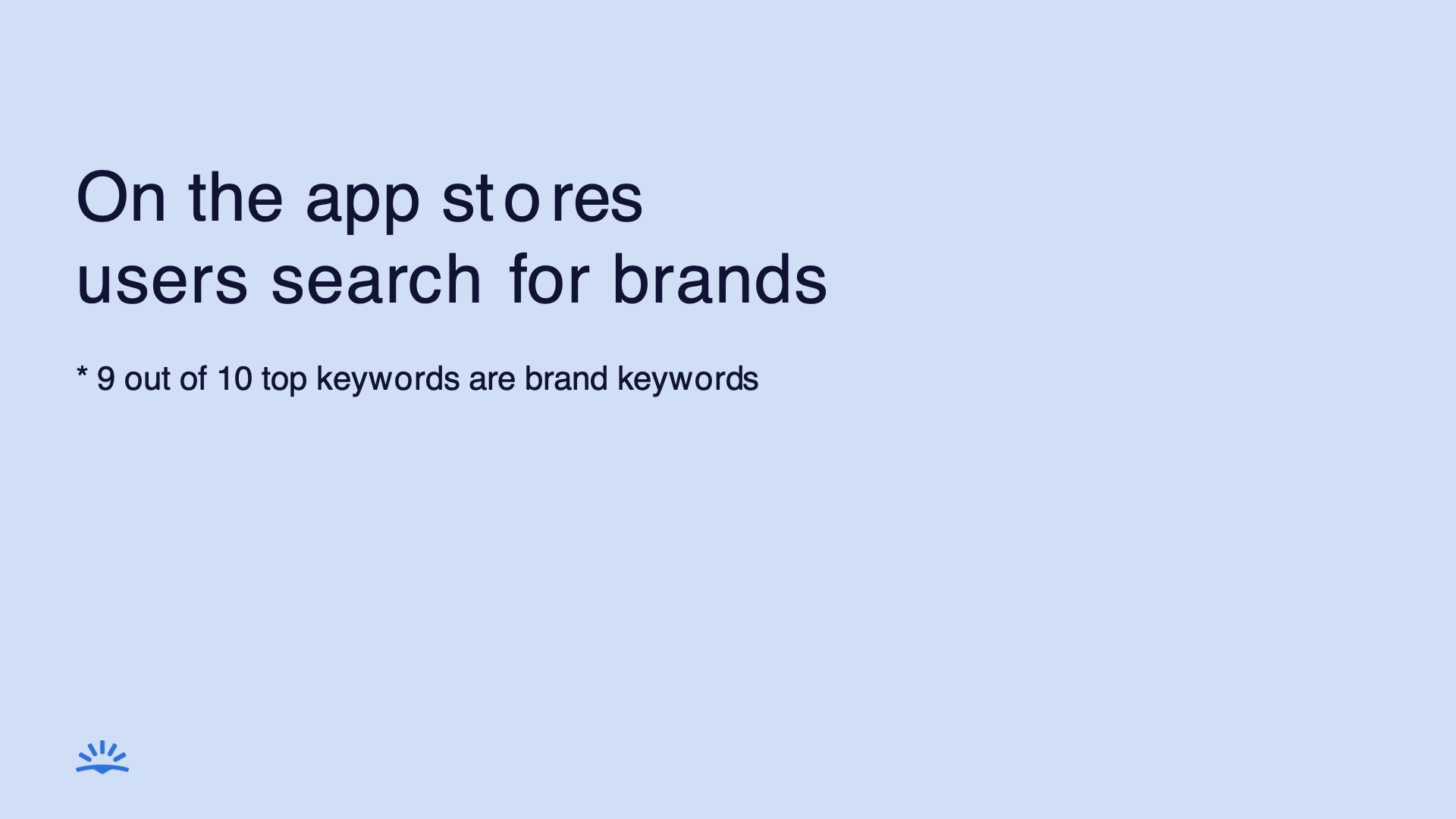 on the app stores users search for brands