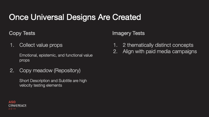 once universal designs are created