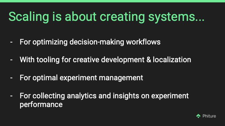 scaling is about creating systems