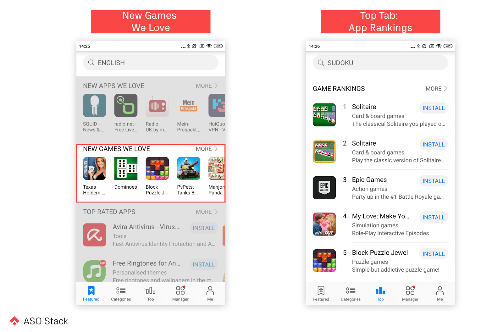 new games we love and top tab app rankings