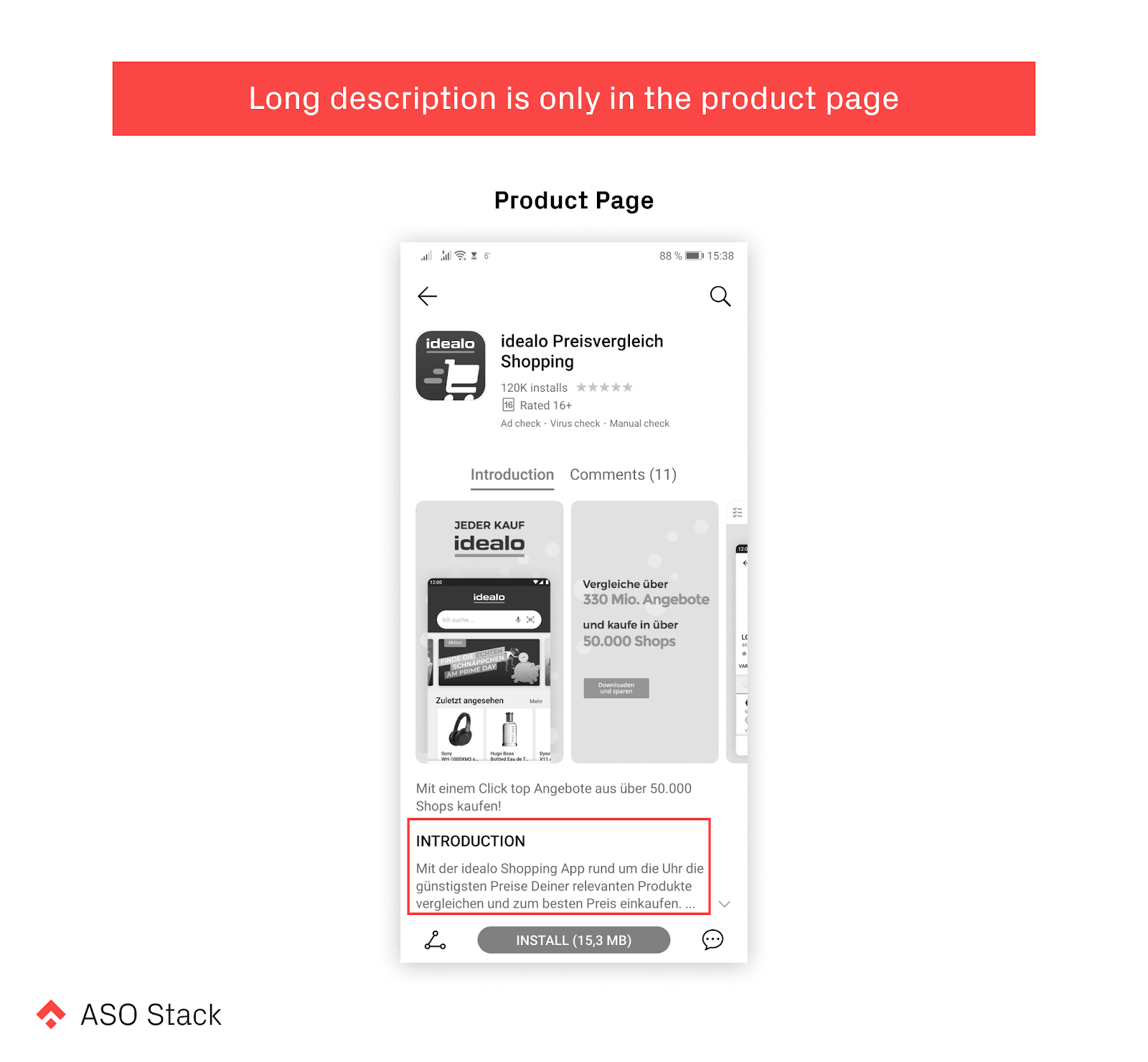 long description is only in the product page