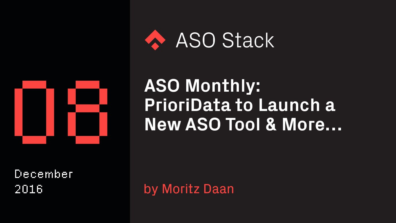 ASO Monthly #8: December 2016