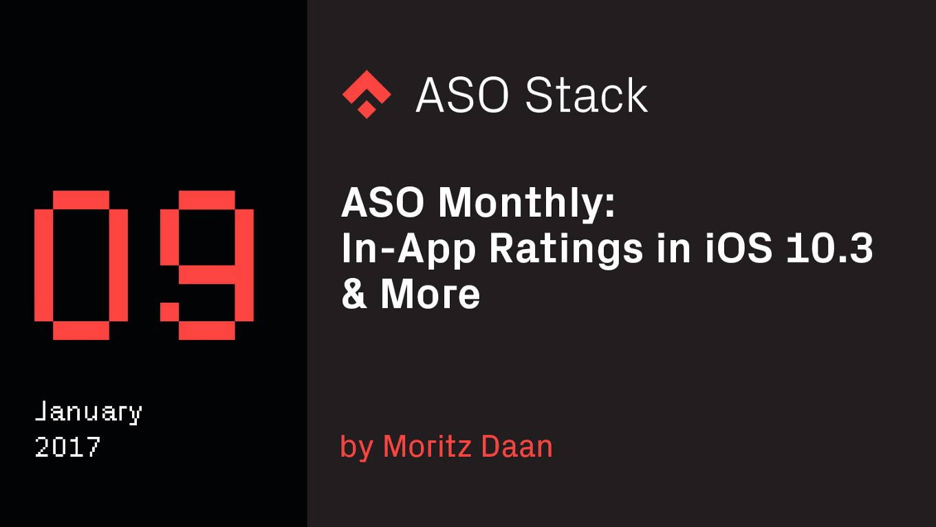 ASO Monthly #9: January 2017