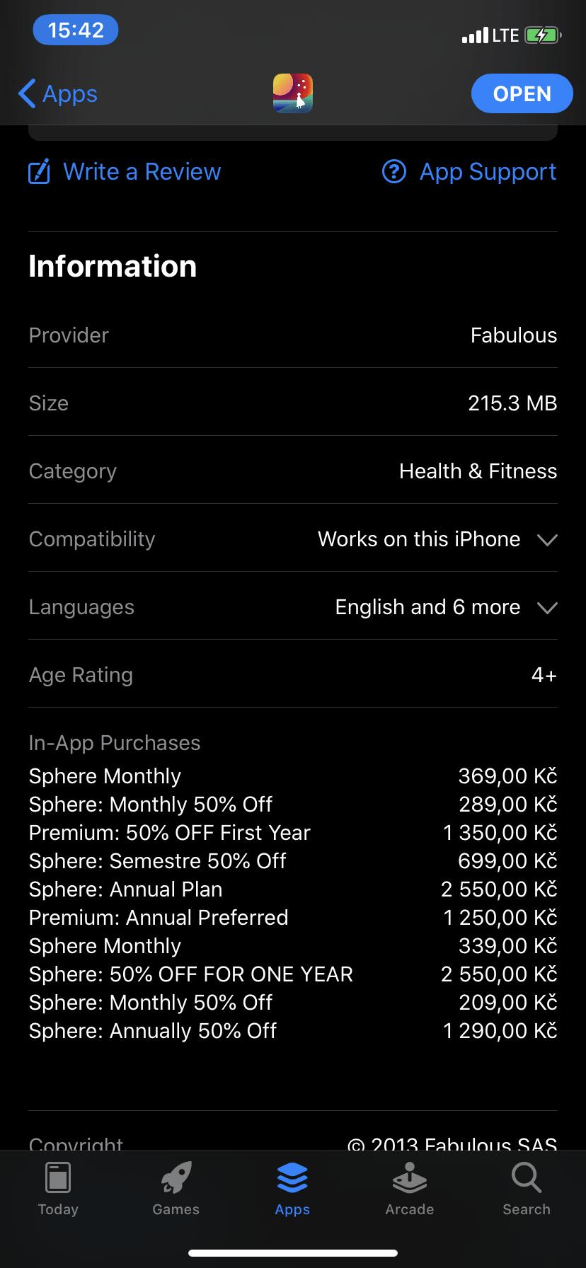 subscription in fabulous app