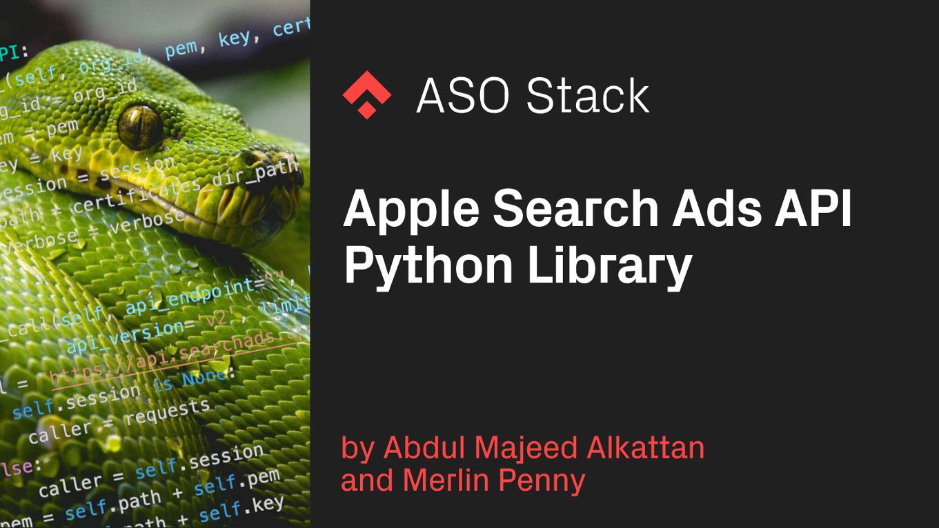 Apple Search Ads API Python Library
