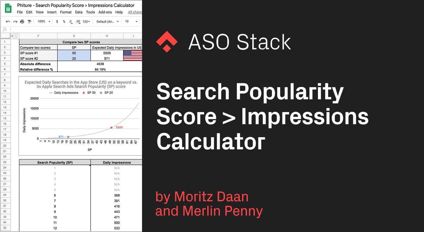 Search Popularity Score > Impressions Calculator