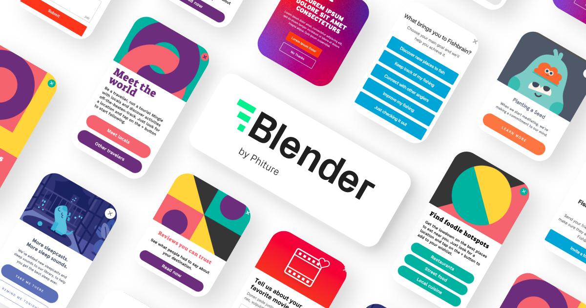 blender in-app messages