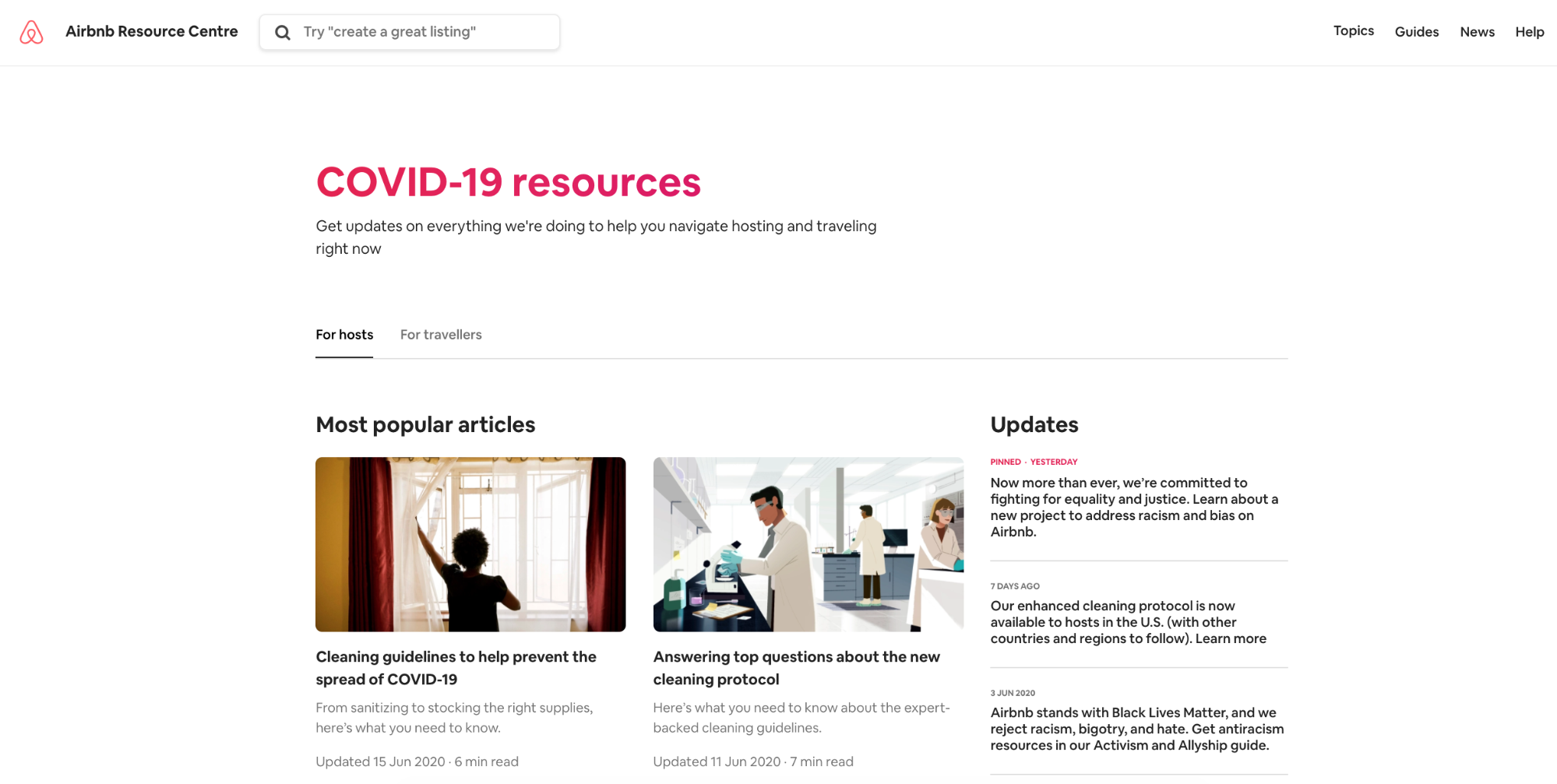 airbnb resource centre