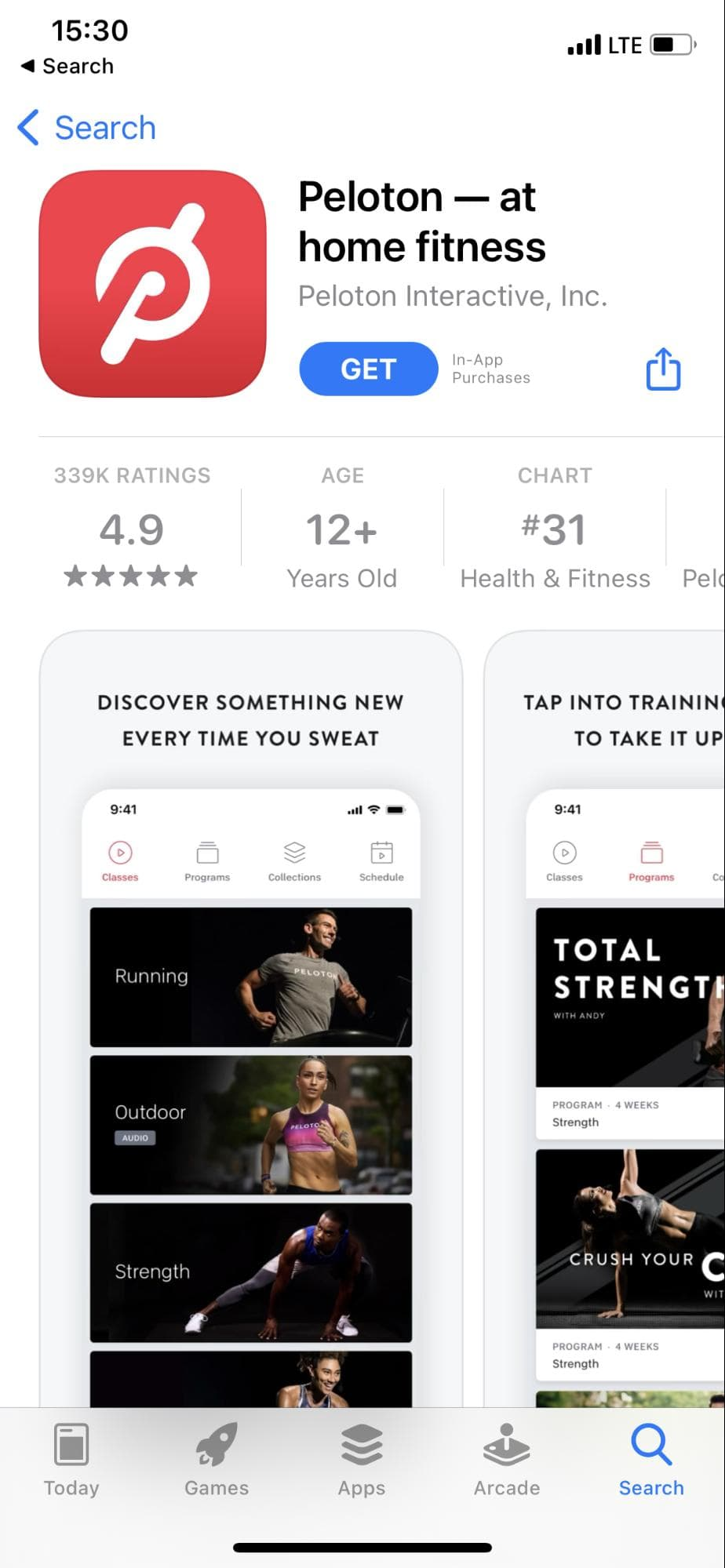 peloton - at home fitness app on app store