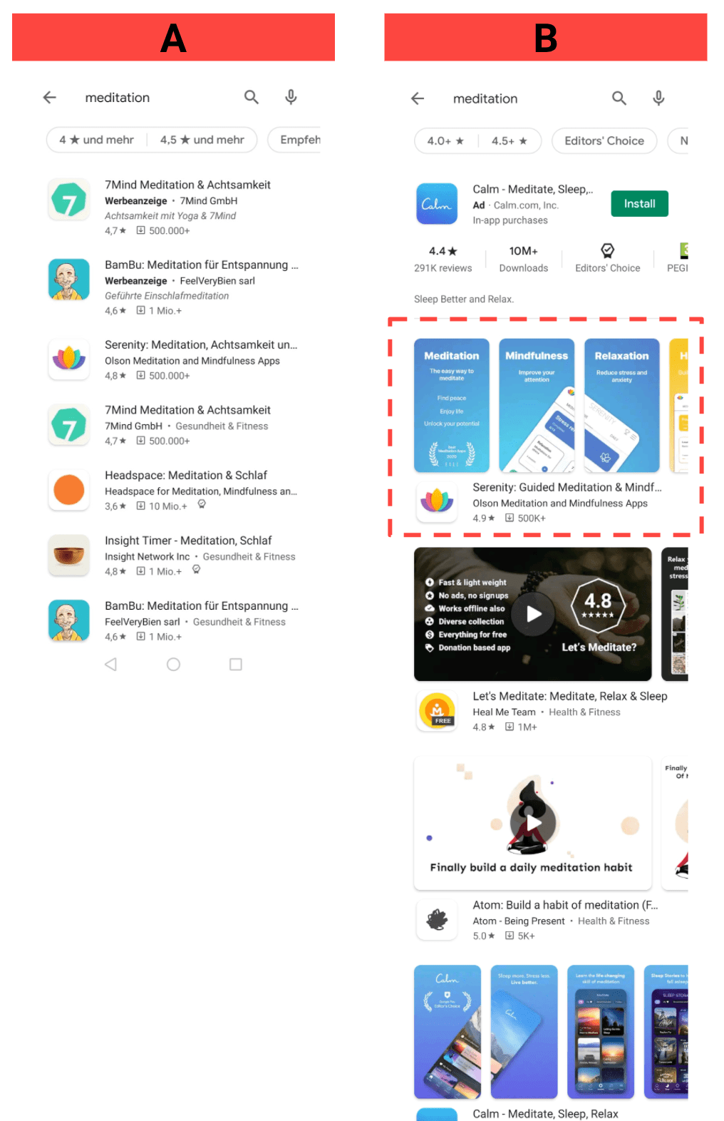 Play Store AB test