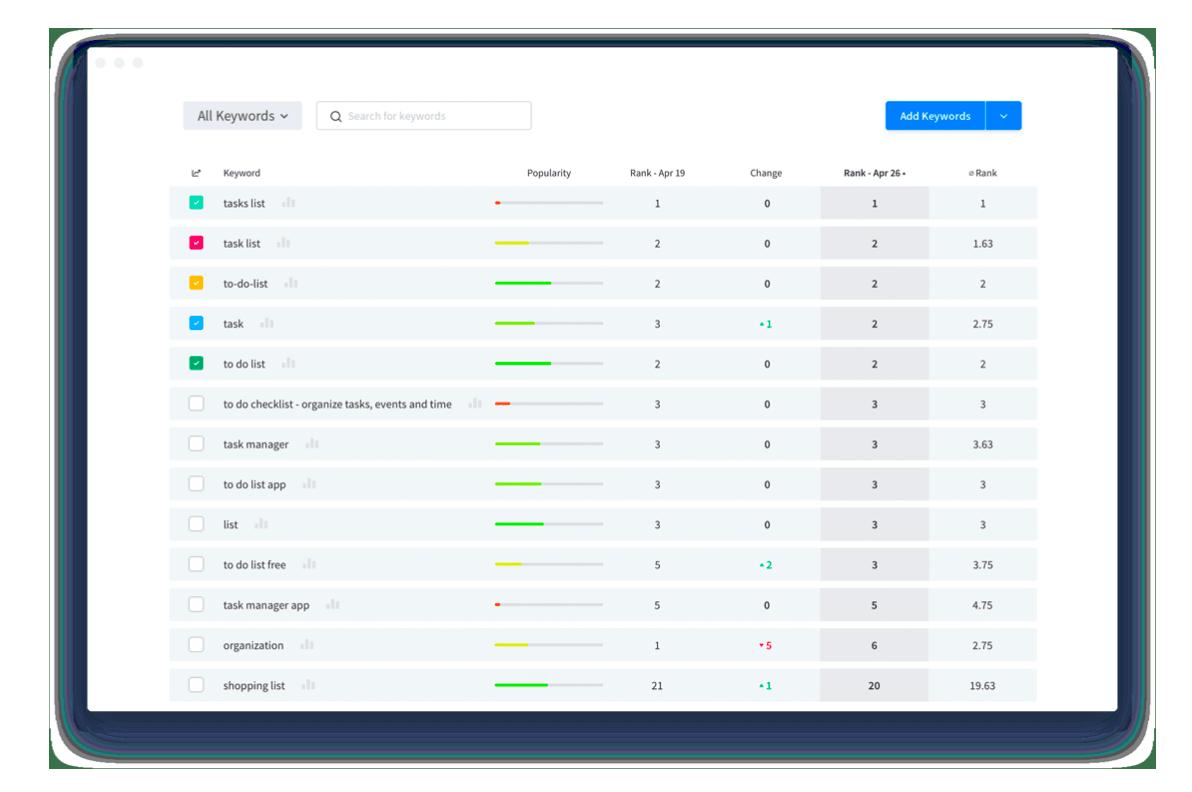 Screenshots: AppRadar