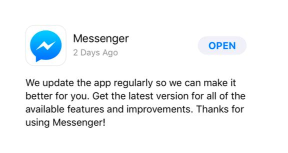 messanger screenshot