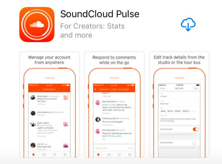 SoundCloud's companion app for creators makes use of the subtitle to make it clear to app store browsers that it's not it's main listener app.