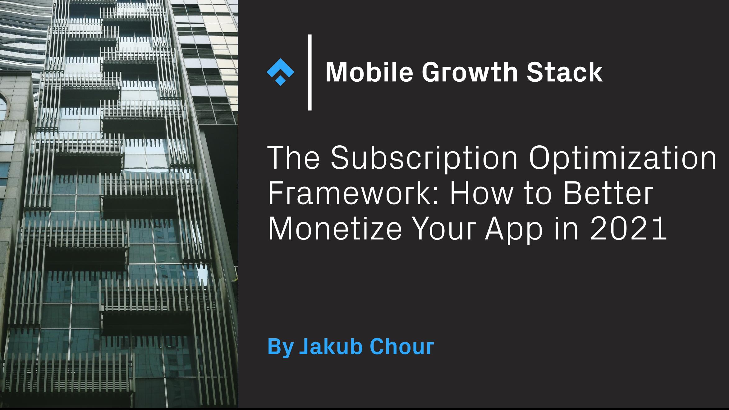 subscription optimization framework