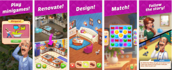 Project Makeover screens