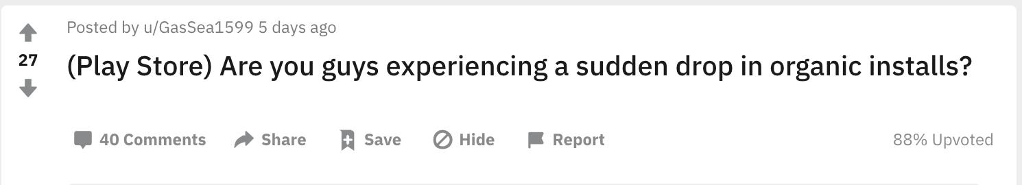Play Store Reddit