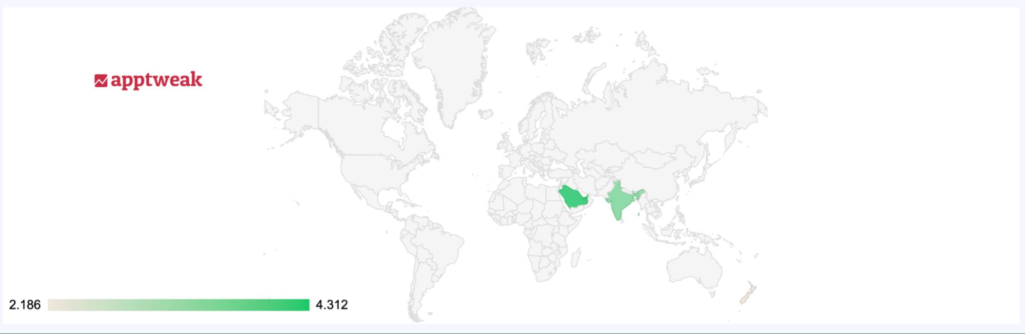 Google Play algorithm anomaly in India and Saudi Arabia